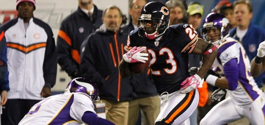 Chicago Bears wide receiver Devin Hester