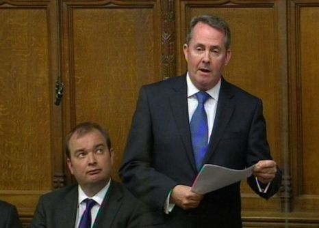 Liam Fox in the House of Commons
