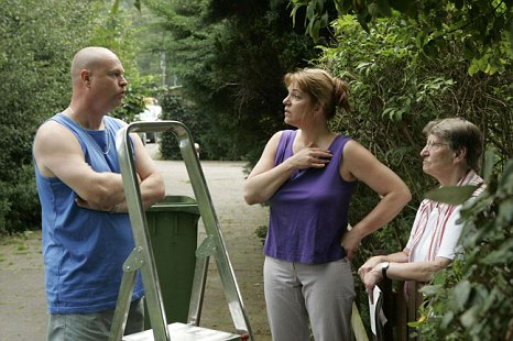Try to get on: Neighbour disputes can escalate if you don't make the effort to discuss problems (Picture: Alamy)