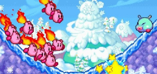 Kirby Mass Attack (DS) - flaming great