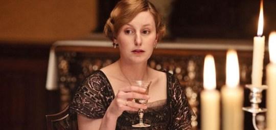 DOWNTON ABBEY WITH LAURA CARMICHAEL as Edith