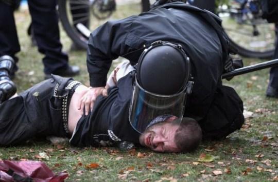 Denver, protestors