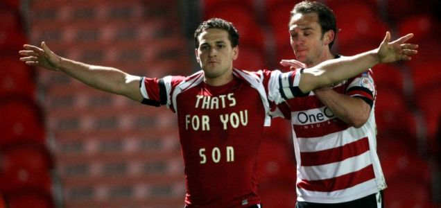 Billy Sharp, Doncaster Rovers, son.
