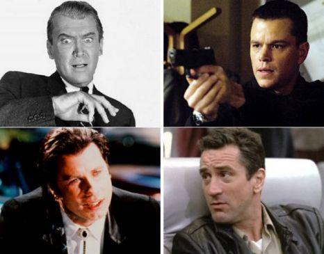 Jimmy Stewart, Matt Damon, John Travolta, Robert De Niro