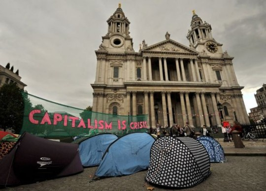 Occupy London Stock Exchange movement outside St Paul's Cathedral
