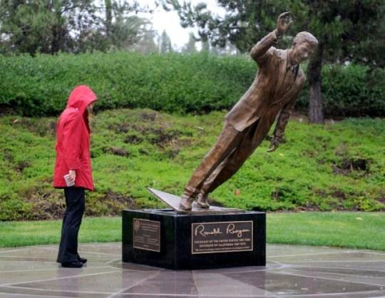 Ronald Regan statue thief