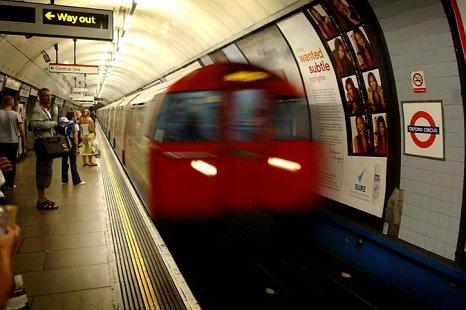 Train at Oxford Circus
