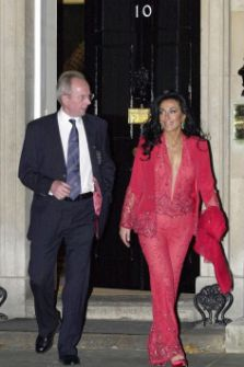 Sven Goran Eriksson and Nancy Dell'Olio  leaving 10 Downing Street at the time Tony Blair was Prime Minister