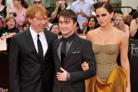 Rupert Grint, Daniel Radcliffe, Emma Watson, Harry Potter And The Deathly Hallows: Part 2