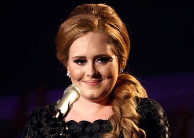 FILE - In this Aug. 28, 2011 file photo, singer Adele appears at the MTV Video Music Awards in Los Angeles. Adele is the leading nominee at the American Music Awards, but the British singer won't be at the ceremony Sunday, Nov. 20, 2011, in Los Angeles because she is recovering from recent throat surgery. (AP Photo/Matt Sayles, File)