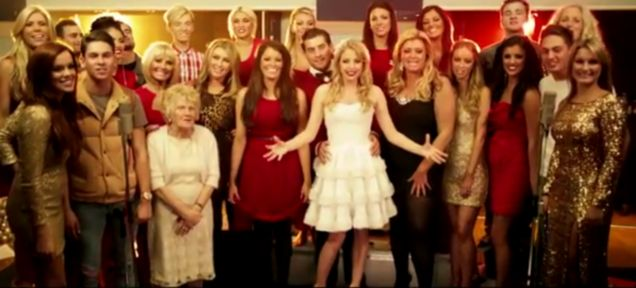 TOWIE Christmas single picture