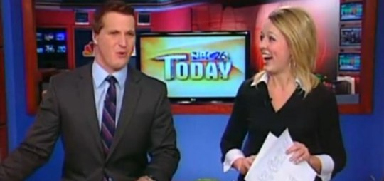 Newsreader says 'I love lamp' on air after being pranked Anchorman
