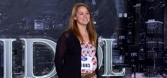 Jane Carrey (Jim Carrey's daughter) aduitions with Something to Talk About on American Idol