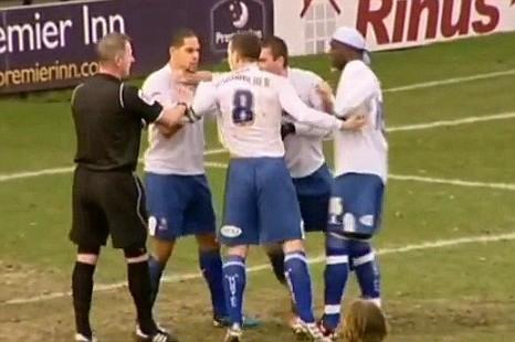 Giles Coke and Steve Schumacher, Bury penalty
