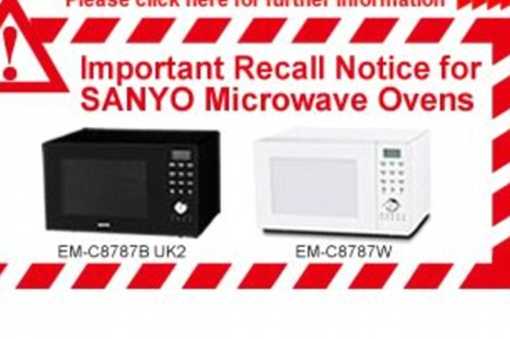 Sanyo microwaves recall announced over 'severe electric