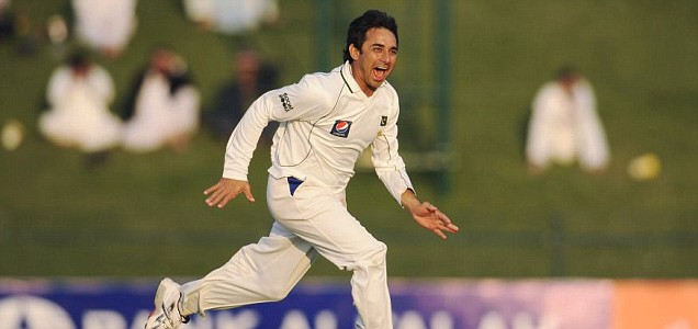 Pakistan's Saeed Ajmal celebrates