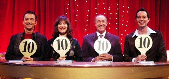 Strictly Come Dancing judges (L-R) Craig Revel Horwood, Arlene Phillips, Len Goodman and Bruno Tonioli
