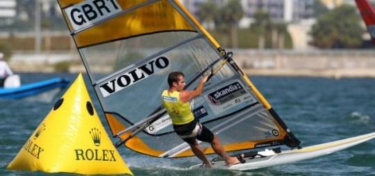 London 2012 Olympic windsurfing sailing Nick Dempsey