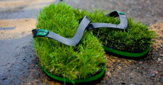 9c8a2597fff2 Grass flip flops – for when the going gets turf