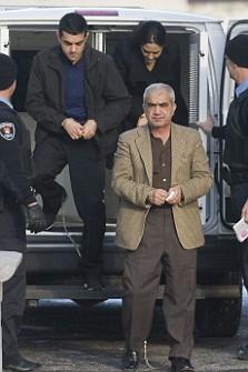 Mohammad Shafia, centre, Tooba Yahya, right, and Hamed Shafia, left