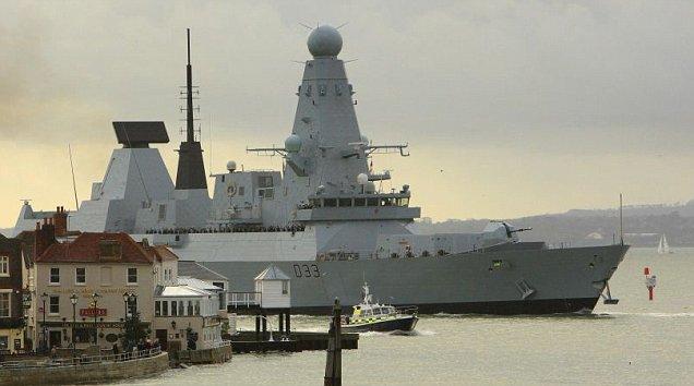 The Royal Navy's HMS Dauntless