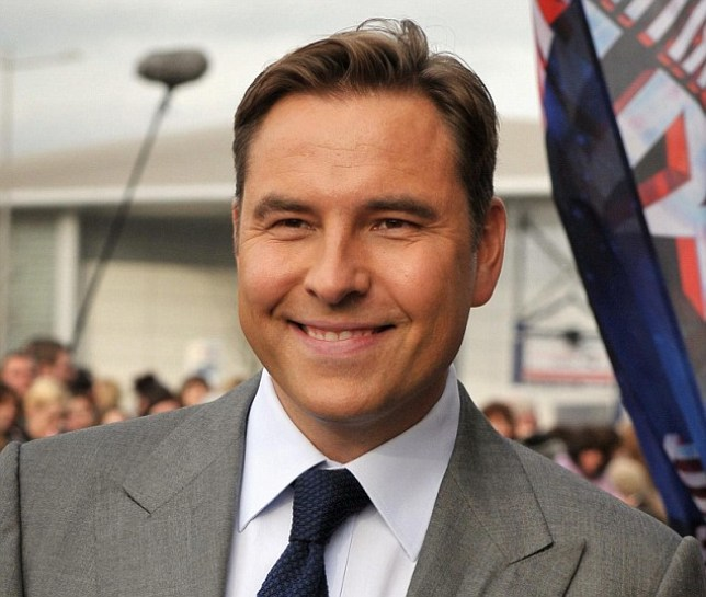 David Walliams arrives to meet fans outside the Millenium Centre in Cardiff for the filming of Britain's Got Talent auditions. PRESS ASSOCIATION Photo. Picture date: Saturday January 28, 2011. Photo credit should read: Tim Ireland/PA Wire