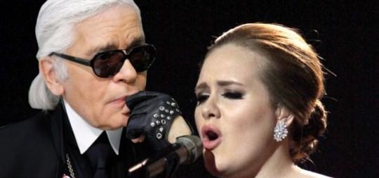 Karl Lagerfeld, Adele