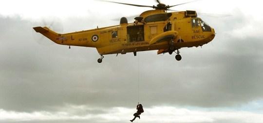 Coastguard helicopter, Emergency, Swimmers dorset