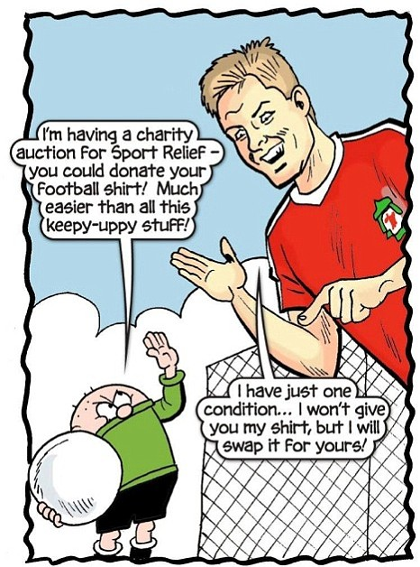 Liverpool captain Steven Gerrard, Sport Relief edition of the Beano