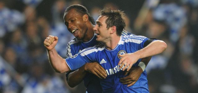 Chelsea's Didier Drogba and Frank Lampard