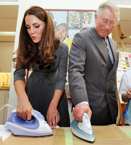 The Duchess of Cambridge and the Prince of Wales