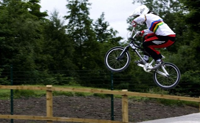 London 2012 Olympics BMX Shanaze Reade