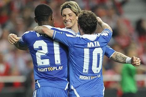 Salomon Kalou, Fernando Torres, Juan Mata