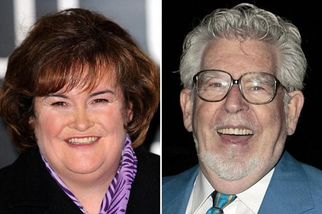 Susan Boyle and Rolf Harris