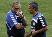 Avram Grant with Jose Mourinho