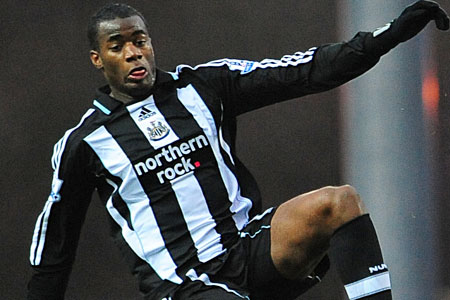 Sebastien Bassong has arrived from Newcastle