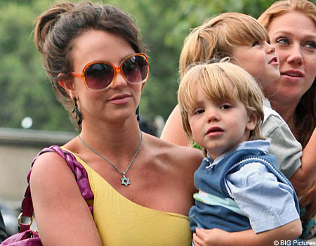Britney with her two sons out and about in Paris
