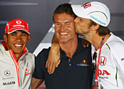 Button, Coulthard and Hamilton