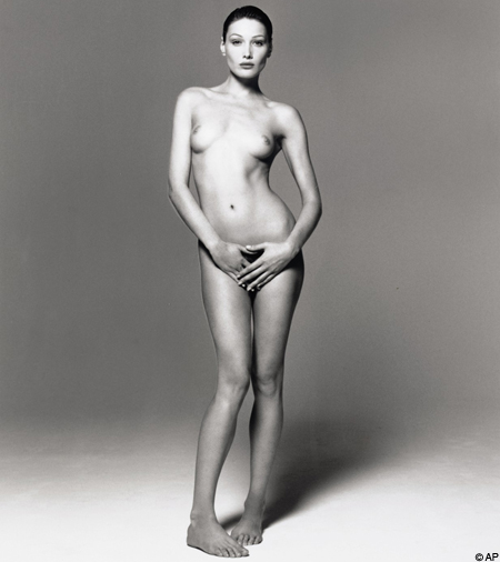 This picture of Ms Bruni sold for £60,000 last year