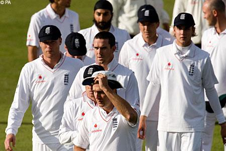 England unhappy