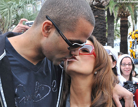 Tony Parker and Eva Longoria leaving the hotel 314 during the 62nd International Cannes Film Festival in Cannes