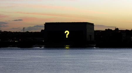 Hans Peter Kuhn's giant question mark