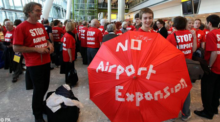 no airport expansion heathrow protest