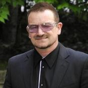 Bono attended the funeral of Sir Clement Freud