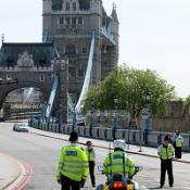 Six tourists were injured when a lift in Tower Bridge fell 10ft