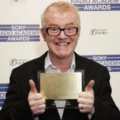Radio 2 presenter Chris Evans with the Sony Entertainment Award for his drivetime show
