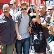 Fans were desperate to get close to Robert Pattinson