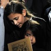 Michael's daughter Paris Jackson with her brother 'Blanket' at the memorial service