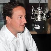 David Cameron speaking on the Absolute Radio breakfast show