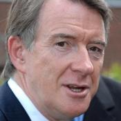 Lord Mandelson has been admitted to a London hospital for a routine operation